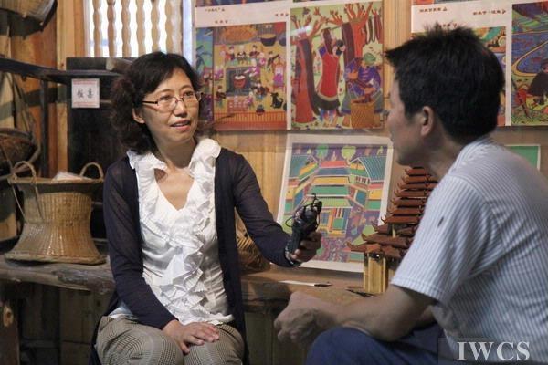 采访侗族传统建筑工匠杨似玉