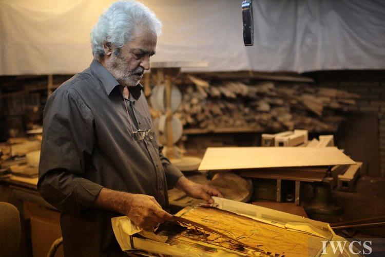 Mohammad Mohammadzadeh先生和他的木艺作品