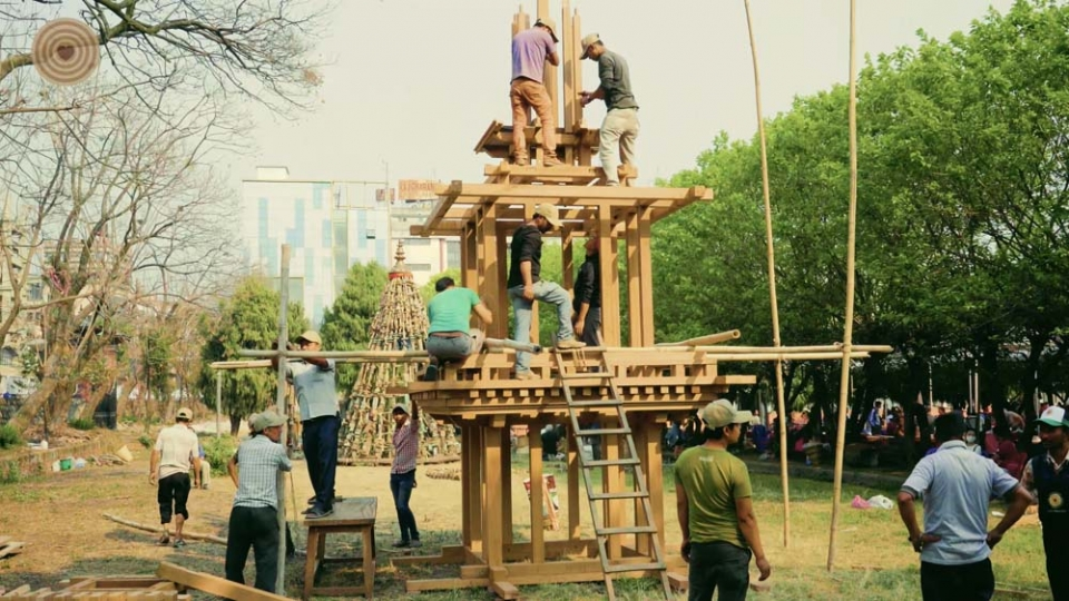 昌古纳拉扬寺湿婆神庙木结构框架复制